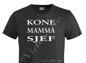 Bilde av t-shirt - kone-mamma-sjef