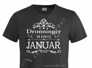 Bilde av T-shirt - Dronning