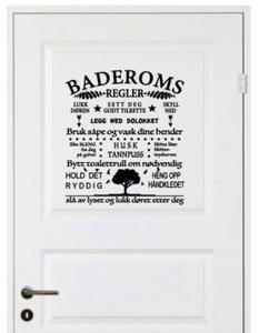 Bilde av Baderomsregler, ca 40x40