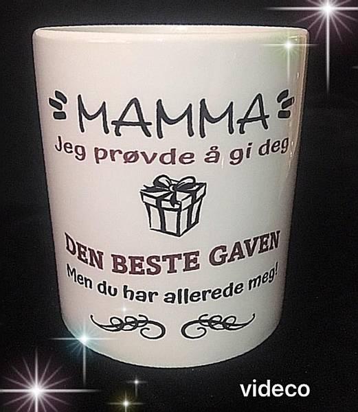 Kopp- Mamma, jeg prøvde og gi deg