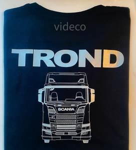 Bilde av T-shirt , Scania m/lastebil og navn