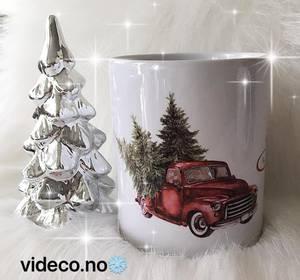 Bilde av Julekopp, Lastebil m/juletrær