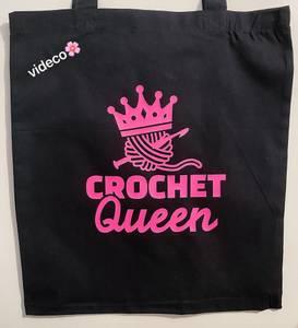 Bilde av Tøyveske, Crochet Queen