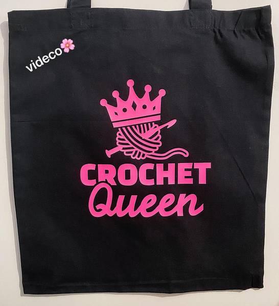 Tøyveske, Crochet Queen