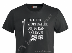Bilde av T-shirt, Jeg liker store baller