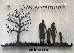 Bilde av Akrylskilt - Velkommen m/bilde