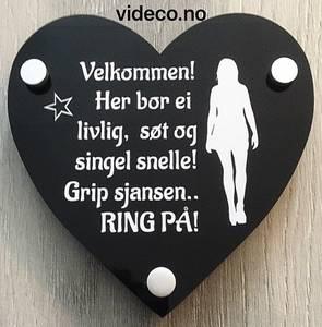 Bilde av Akrylskilt- Her bor ei livlig, søt og singel snelle!