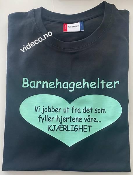 T-shirt- Barnehagehelter