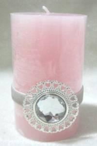 Bilde av Lys m/diamant, rosa.
