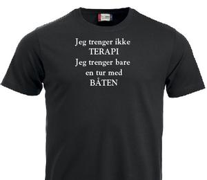 Bilde av T-shirt -  Jeg trenger ikke terapi.. Jeg trenger bare en