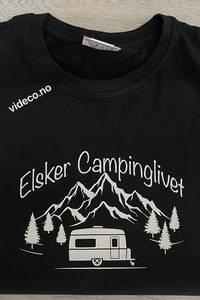 Bilde av T-shirt, Elsker Campinglivet