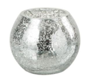 Bilde av Te lys glass i sølv