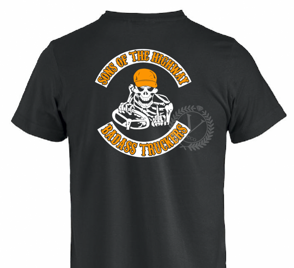T-shirt- Sons of the highway badass truckers