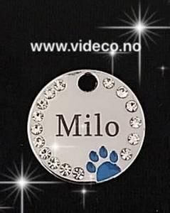 Bilde av Navnesmykke til hund m/bling