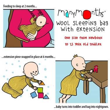 ManyMonths sovesekk i ull