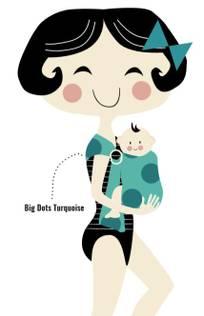 MaM Badeslynge Turquoise Big Dots