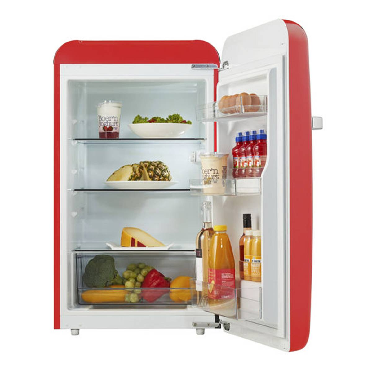 Temptech rødt vintage kjøleskap