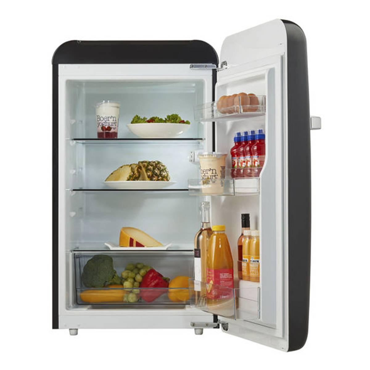 Temptech sort vintage kjøleskap