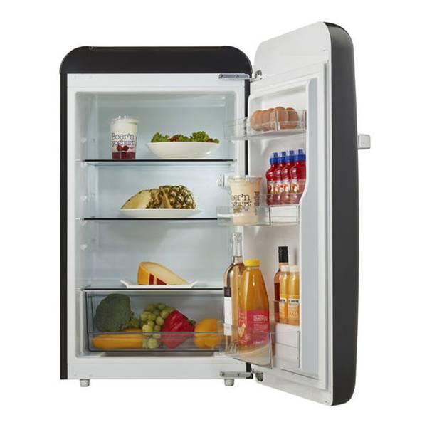Bilde av Temptech sort vintage kjøleskap