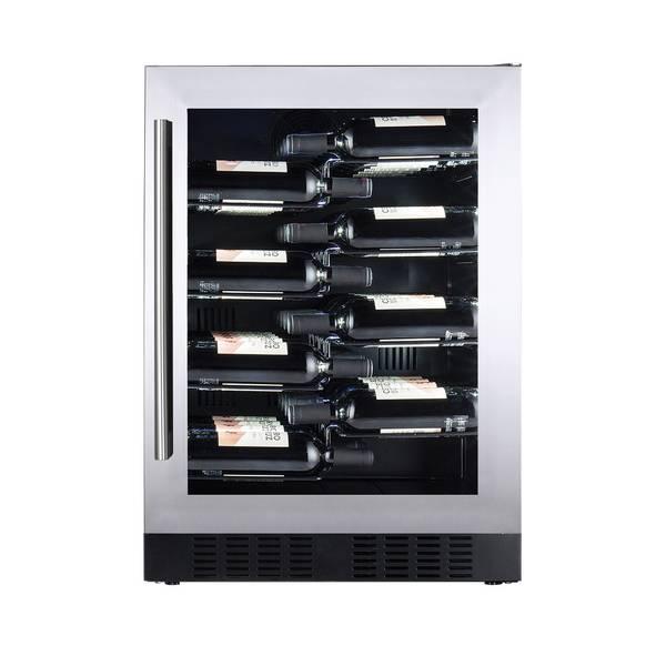 Bilde av Temptech Copenhagen vinskap, 60 cm, 1 sone, 40 flasker
