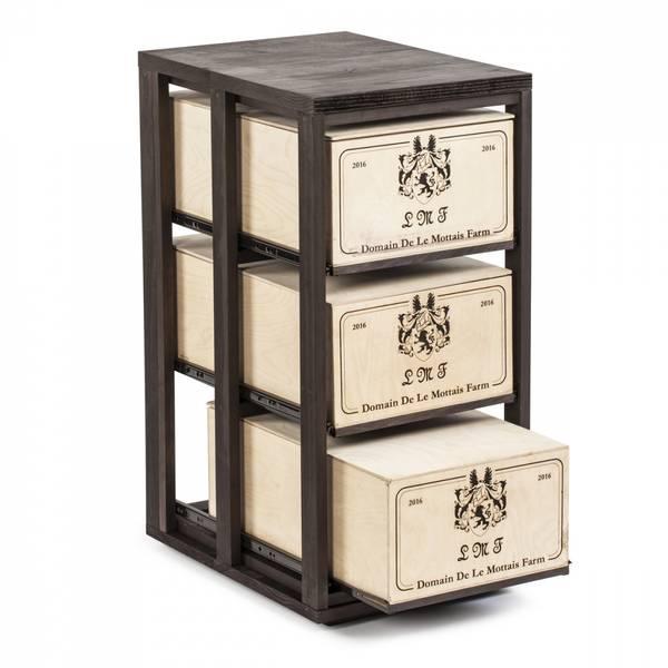 Bilde av Connoisseur vinkassestativ 3 kasser