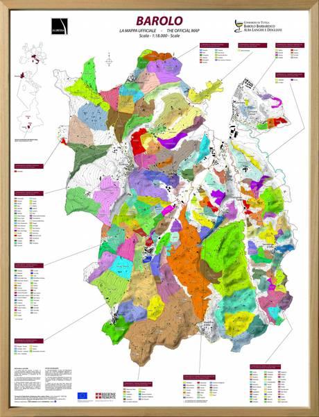 Bilde av Innrammet 3D kart - Barolo