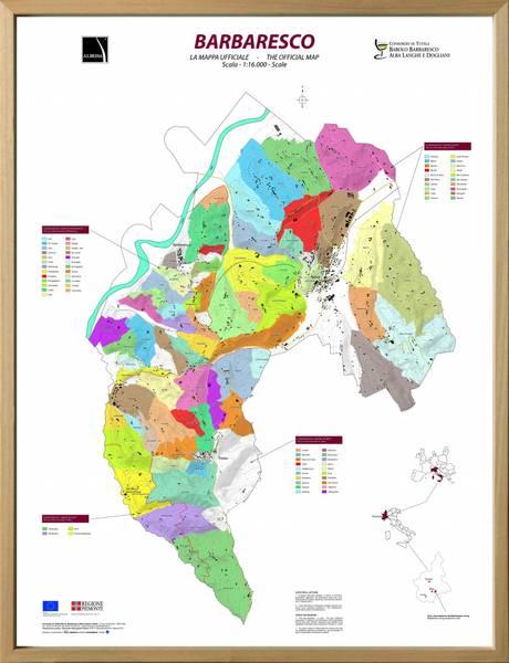 Bilde av Innrammet 3D kart - Barbaresco