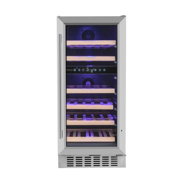 Bilde av Temptech Premium vinskap, 40 cm, 2 soner, 32 flasker