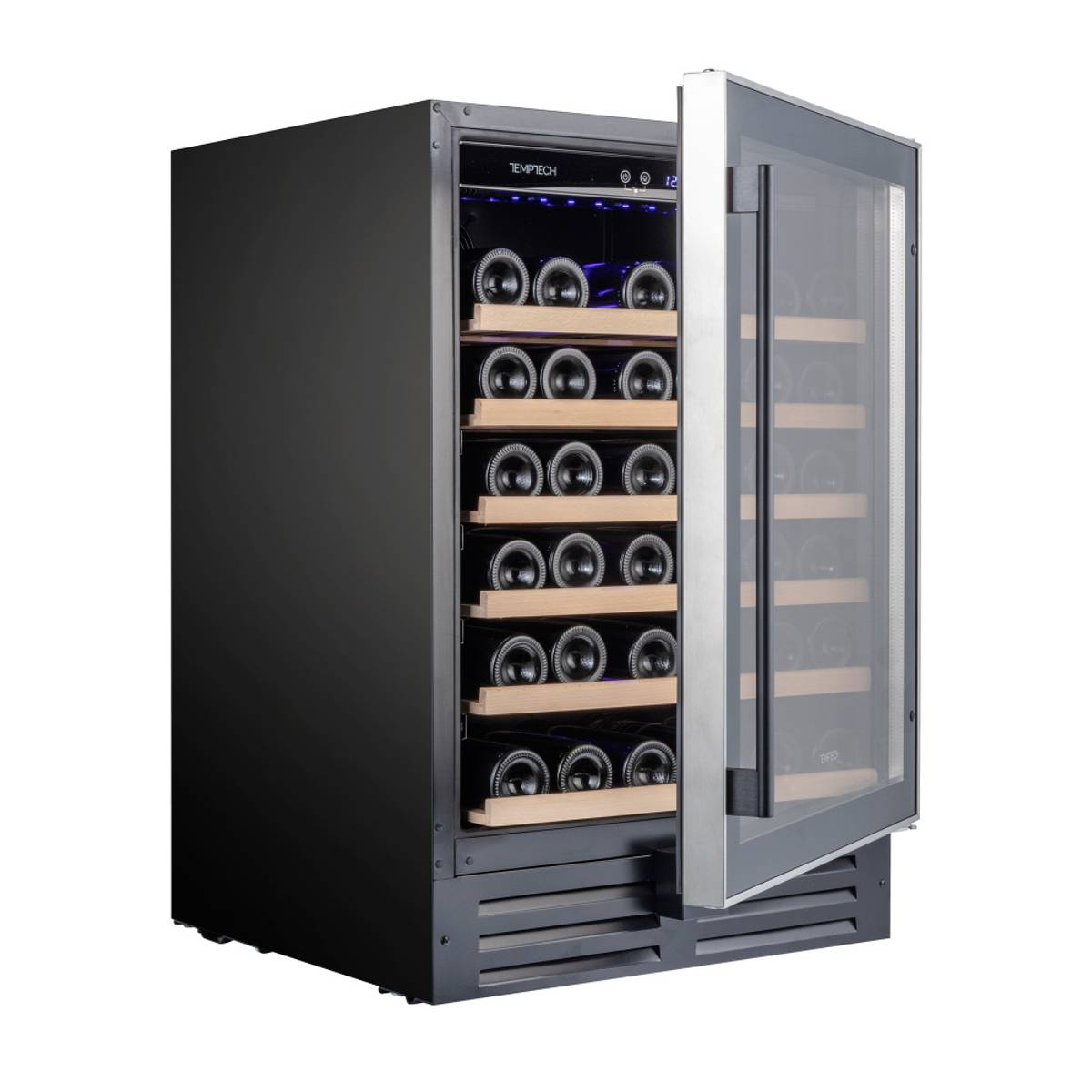 Temptech Premium vinskap, 60 cm, 1 sone, 46 flasker