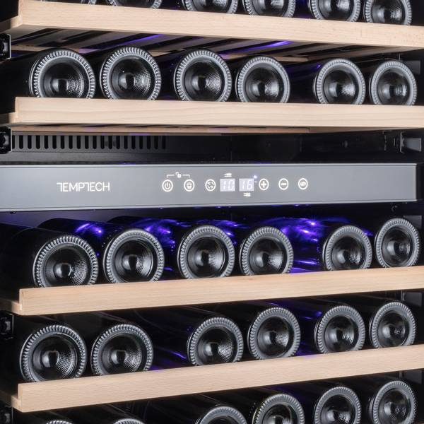 Bilde av Temptech Premium vinskap, 60 cm, 2 soner, 46 flasker
