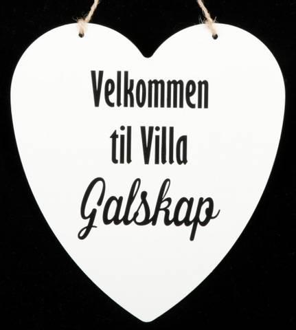 Bilde av Metallskilt Velkommen Villa Galskap 16x17,5