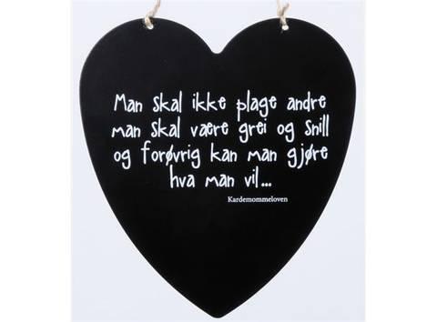 Bilde av Metallskilt Kardemommeloven 16x17,5