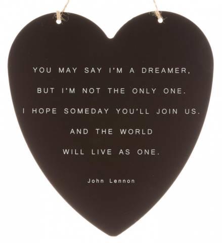 Bilde av Metallskilt John Lennon Dreamer 16x17