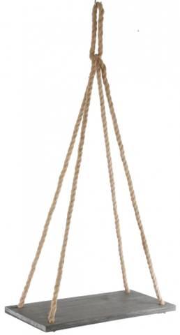 Bilde av Trehylle med tauoppheng