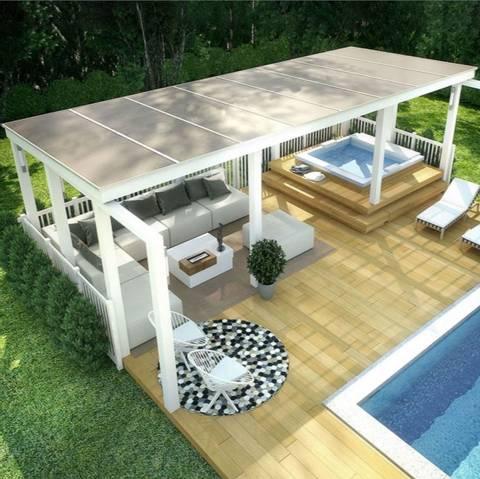 Bilde av Hagestue Komplett byggesett tak (polykarbonat)