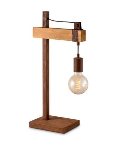 Bilde av Unik bordlampe rust/tre