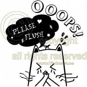 Bilde av Oops please flush
