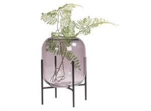 Bilde av Vase med metallfot GRÅ |
