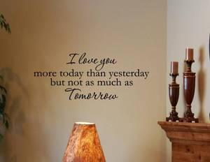 Bilde av I love you more today