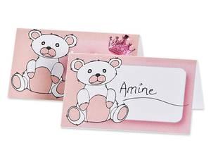 Bilde av Bordkort 12pk baby ROSA str.: