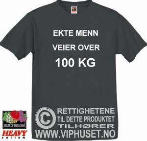 Bilde av Ekte menn veier over 100 kg