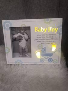 Bilde av Babyramme gutt HVIT / BLÅ |