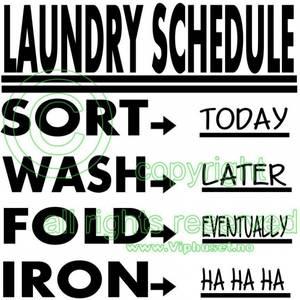Bilde av Laundry Schedule