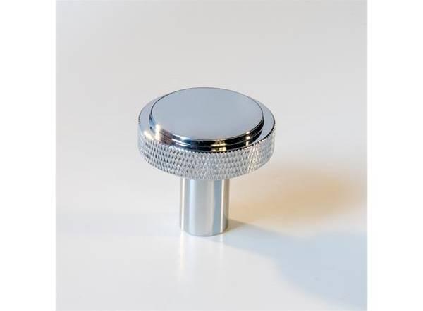 Dørknott / knotter krom 35mm krom / sølv