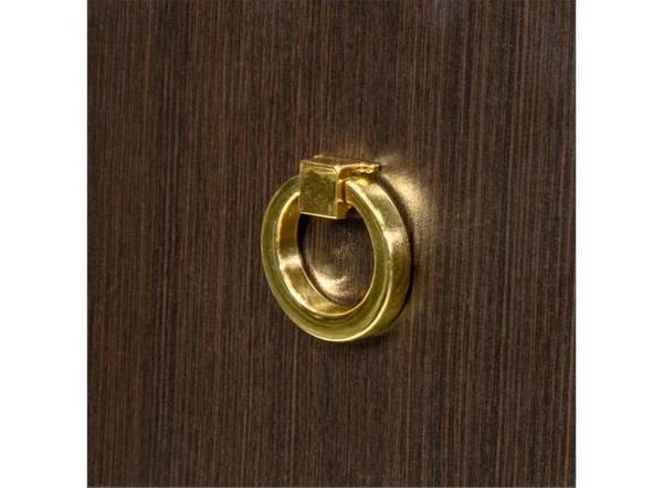 Dørknott / knotter ring gull 40 mm messing / gull