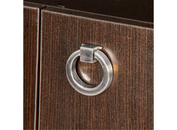Dørknott / knotter ring stål 40 mm børstet stål