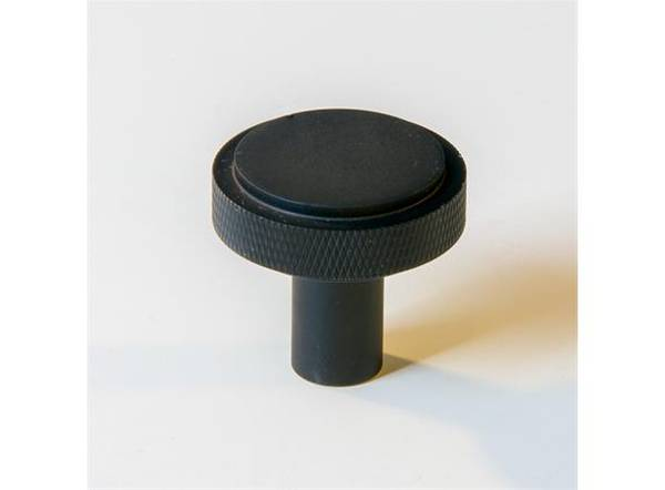 Dørknott / knotter svart 35 mm matt svart