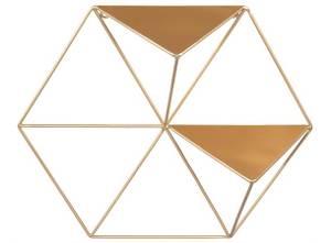 Bilde av Hylle 6 kantet gull metall