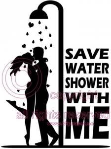 Bilde av Save water shower with me