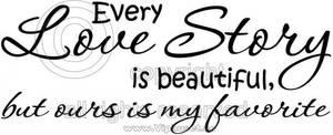 Bilde av Every love story is beautiful